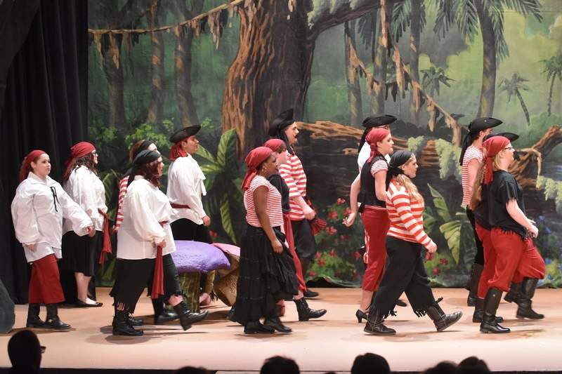 Captain Hook's pirates make their first appearance.