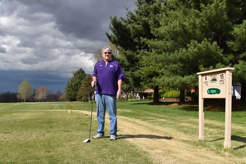 Shawnee Hills Country Club Board President Steve Black talks about improvements to the course in recent years.