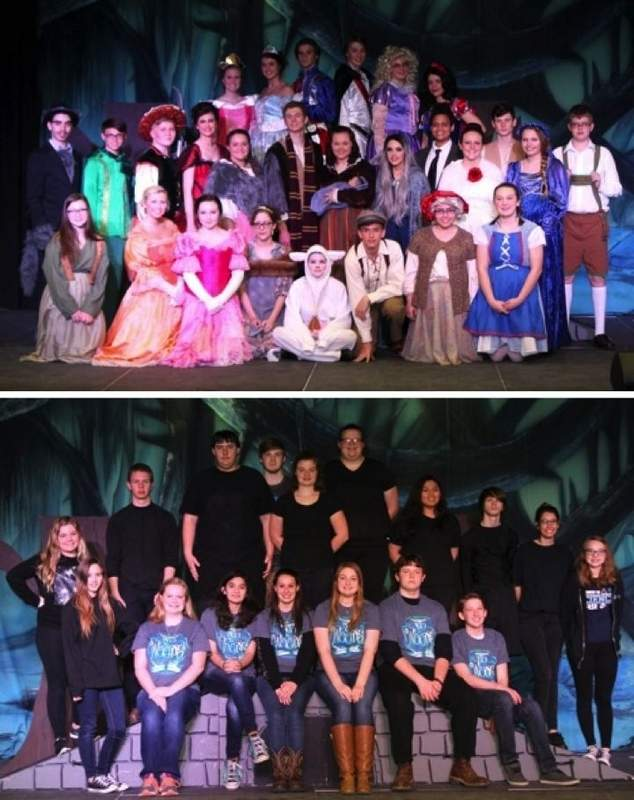 The PCHS Music Makers performed the musical 'Into the Woods' March 30 to April 1. The show was sold out on both Friday and Saturday. The cast (pictured above) included (front row) Skylar Zipfel, Cassie Fisher, Gracie McDaniel, Sophia Issler, Halie Hottes, Daniel Garavaglia, Mikayla Rheinecker, Elaine Shaneyfelt, (second row) Korey Classing, Holden Huntley, Dylln Palmer, Libby Ryterski, Kayla Alms, Stephen Wagner, Sydney Wright, Madison Garavaglia, Tre Scott, Jacelyn Catron, David Wagner, Mercedes Moll, Evin Olson, (third row) Kyla Epplin, Madison Hutchings, Lucas Downard, Caleb Geary, Sydney Francis and Sarah Issler. The crew (pictured below) included (front row) Tommi Carpenter, Ashley Harsy, Michelle Woodside, Valerie Farris, Kailey Greer, Jon Lee, Grant Bigham, (back row) Gabby Sprague, Alex Bechtel, Robert Sowder, Austin Nehring, Marissa Stowers, Bailey Rainey, Victoria Loos, Adam Turney, Danielle Haun and Abigail Barnes.