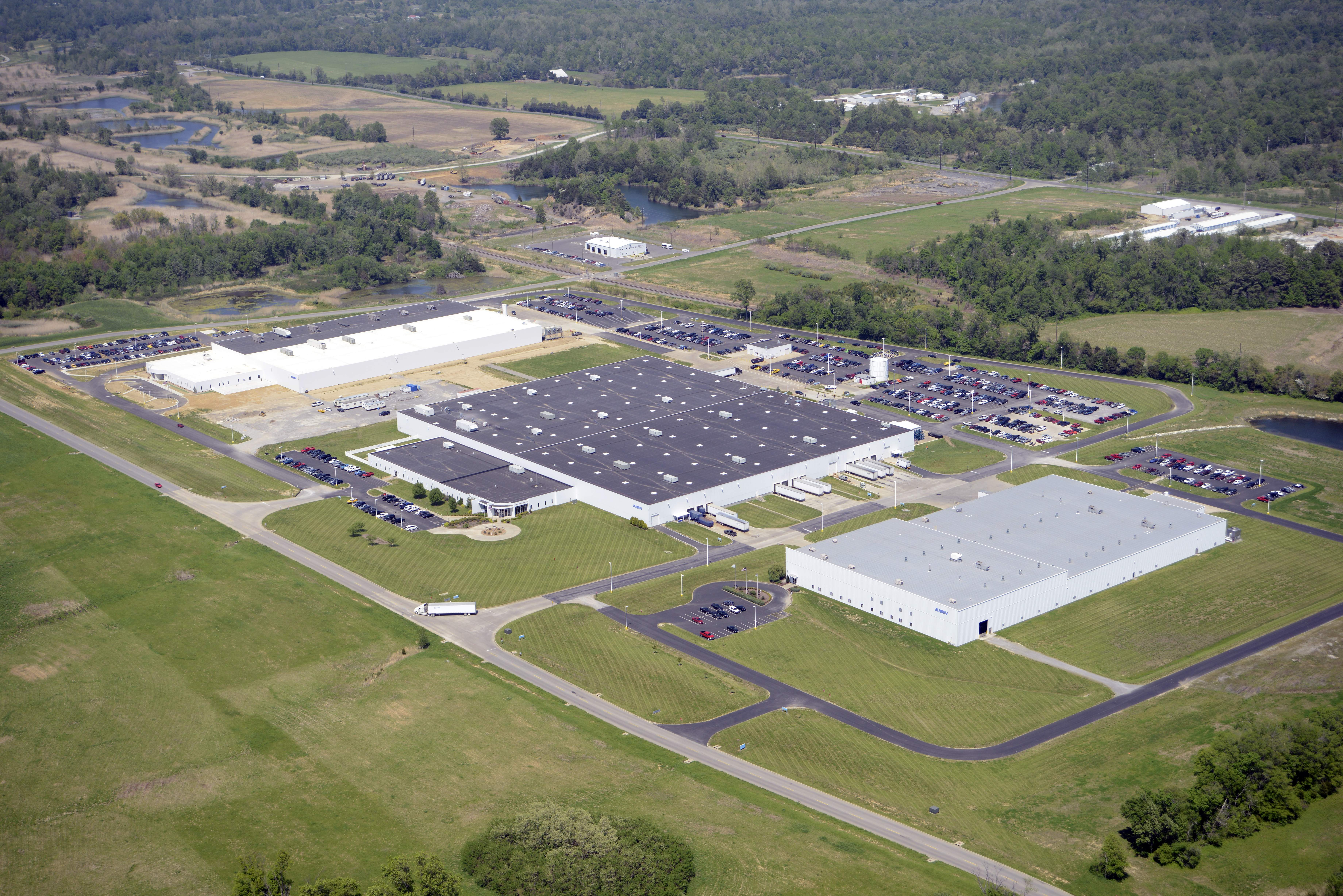 The Aisin plants are the main focus of REDCO Industrial Park as shown here from this aerial view in 2014.
