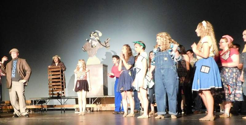 Rehearsals have been in full swing this week as Benton Consolidated High School presents the musical 'Li'l Abner' this weekend at the Benton Civic Center. The show opens tonight at 7 p.m. and also will run on Saturday at 7 p.m. and Sunday at 4 p.m.  Tickets are $13 and $8. For more information, call 618-435-5700 or visit the civic center online at bentonciviccenter.com.