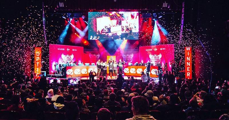 Shown is Ultimate Gaming Championship's $200,000 'Gears of War' Pro Circuit Atlantic City Open final.