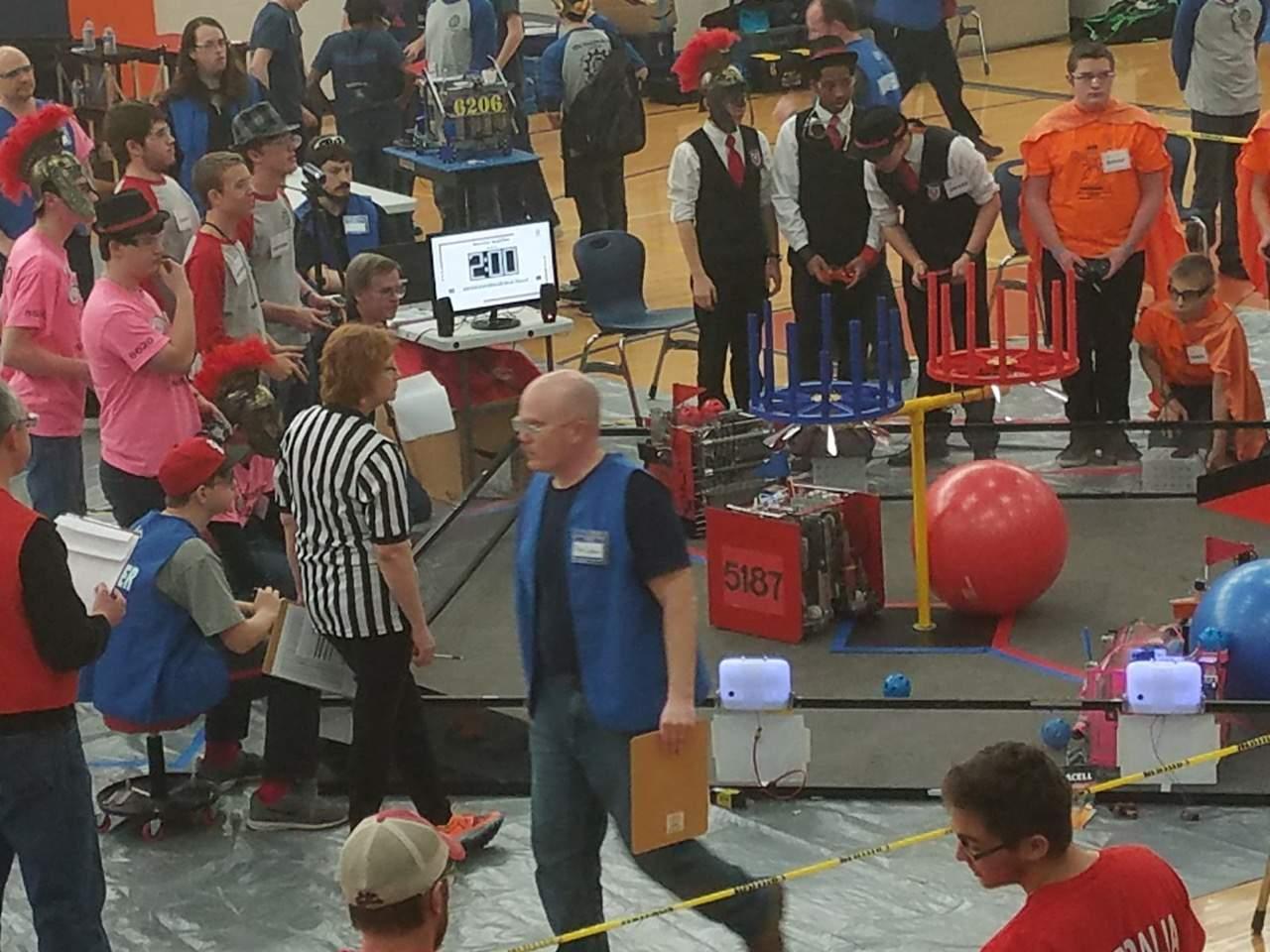 The Marion High School robotics team puts Atlas through its paces.