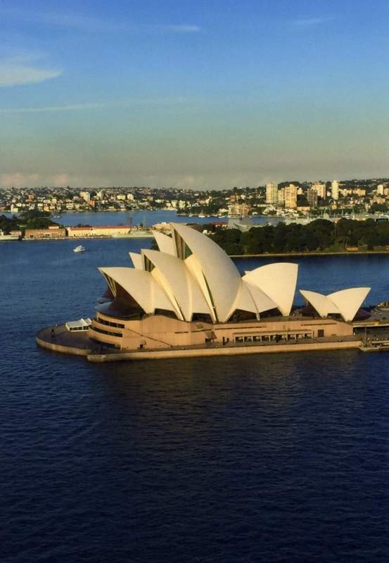 The Sydney Opera House was among the landmarks Collins saw on her trip to Australia.
