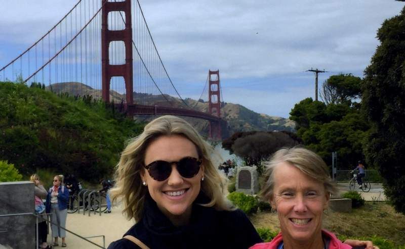 Before embarking for Australia, Collins spent a week in San Francisco with her daughter, Kelsey Wanack.