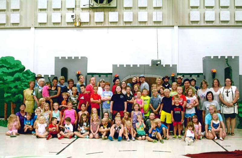 Attendees in the St. John Lutheran vacation bible study are shown.