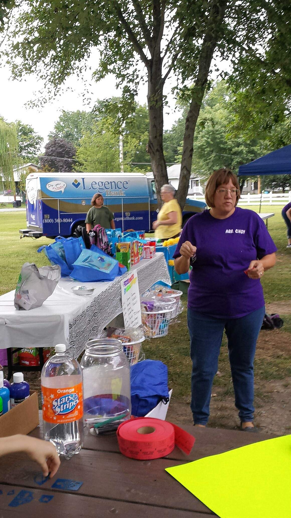 Cindy Winters prepares for the final night of Harrisburg Gives Back Saturday at Harrisburg Township Park.