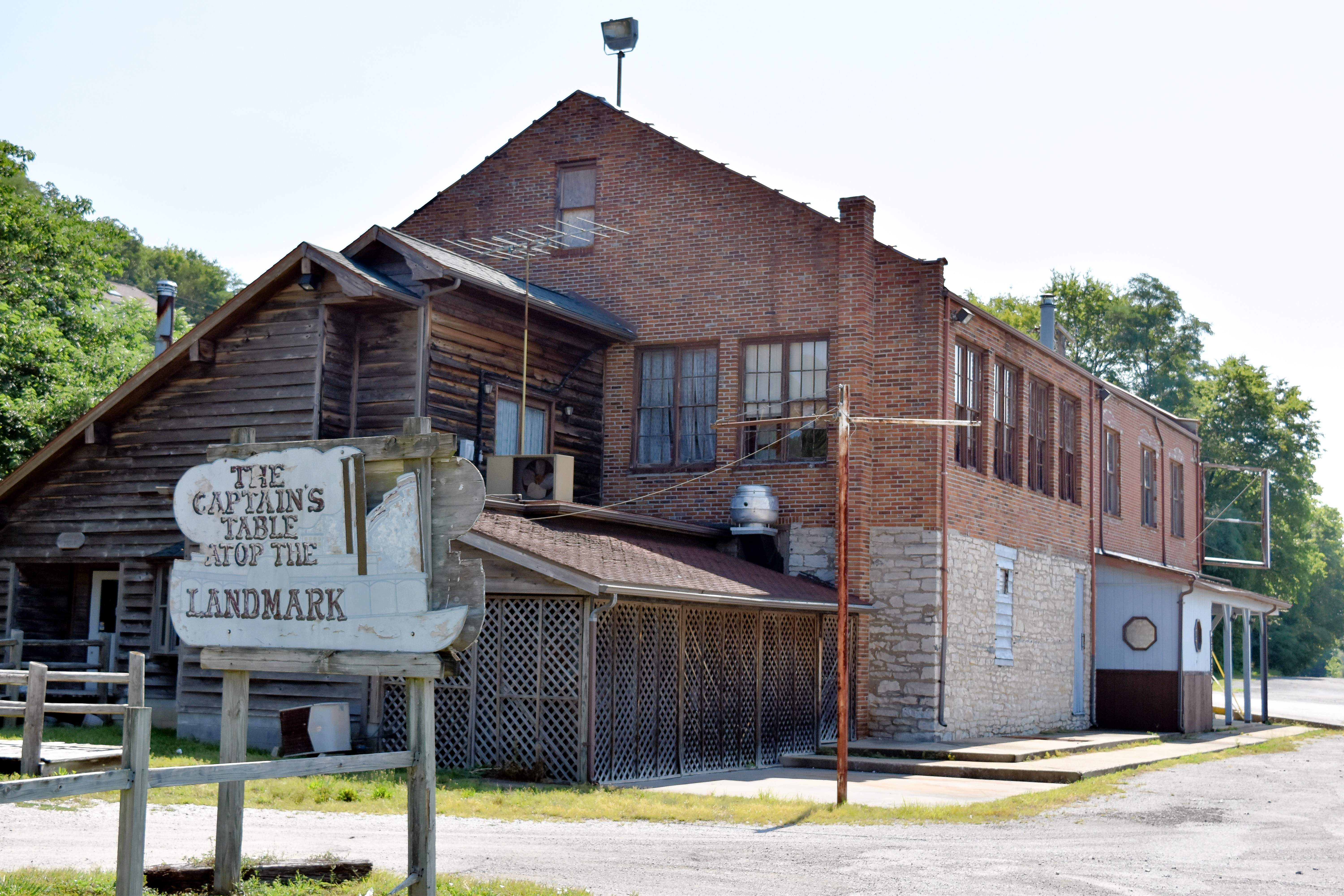 """The Ye Olde Landmark Inn, commonly known as """"the Landmark,"""" is shown at its location on Ferry Street in Chester's riverfront district."""