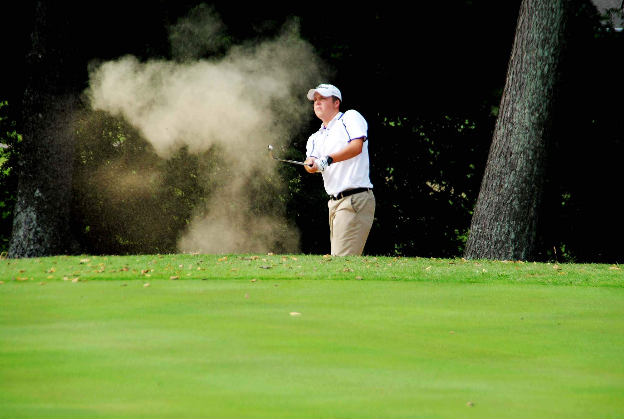 Harrisburg's Camden Schiff shot a 39 in a match earlier this week at Shawnee Hills Country Club against Mt. Carmel and Massac County. Schiff finished third overall in the triangular match.