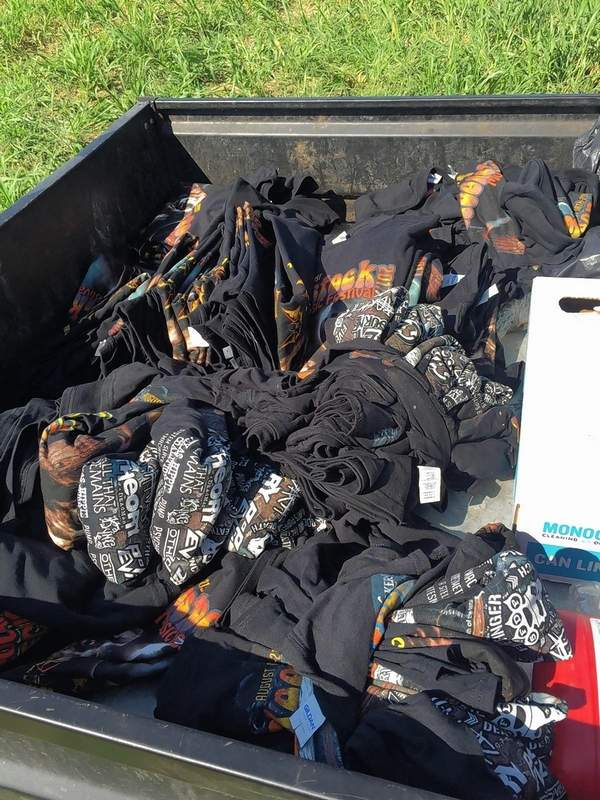 Walker's Bluff security staff confiscated this truckload of bootleg shirts.