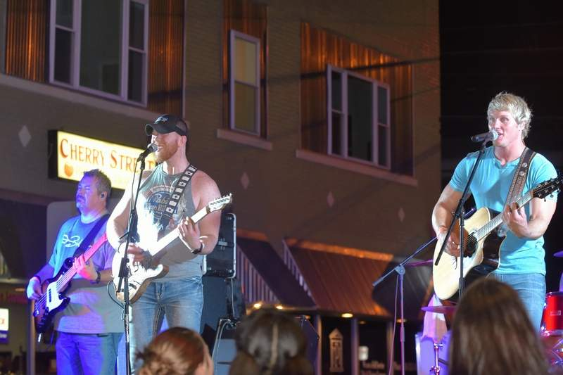 Band Murphy 500 plays at Total Eclipse of the Heartland Sunday night in downtown Harrisburg.