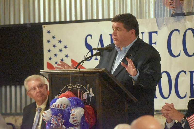 J.B. Pritzker speaks Saturday night at a forum for candidates.