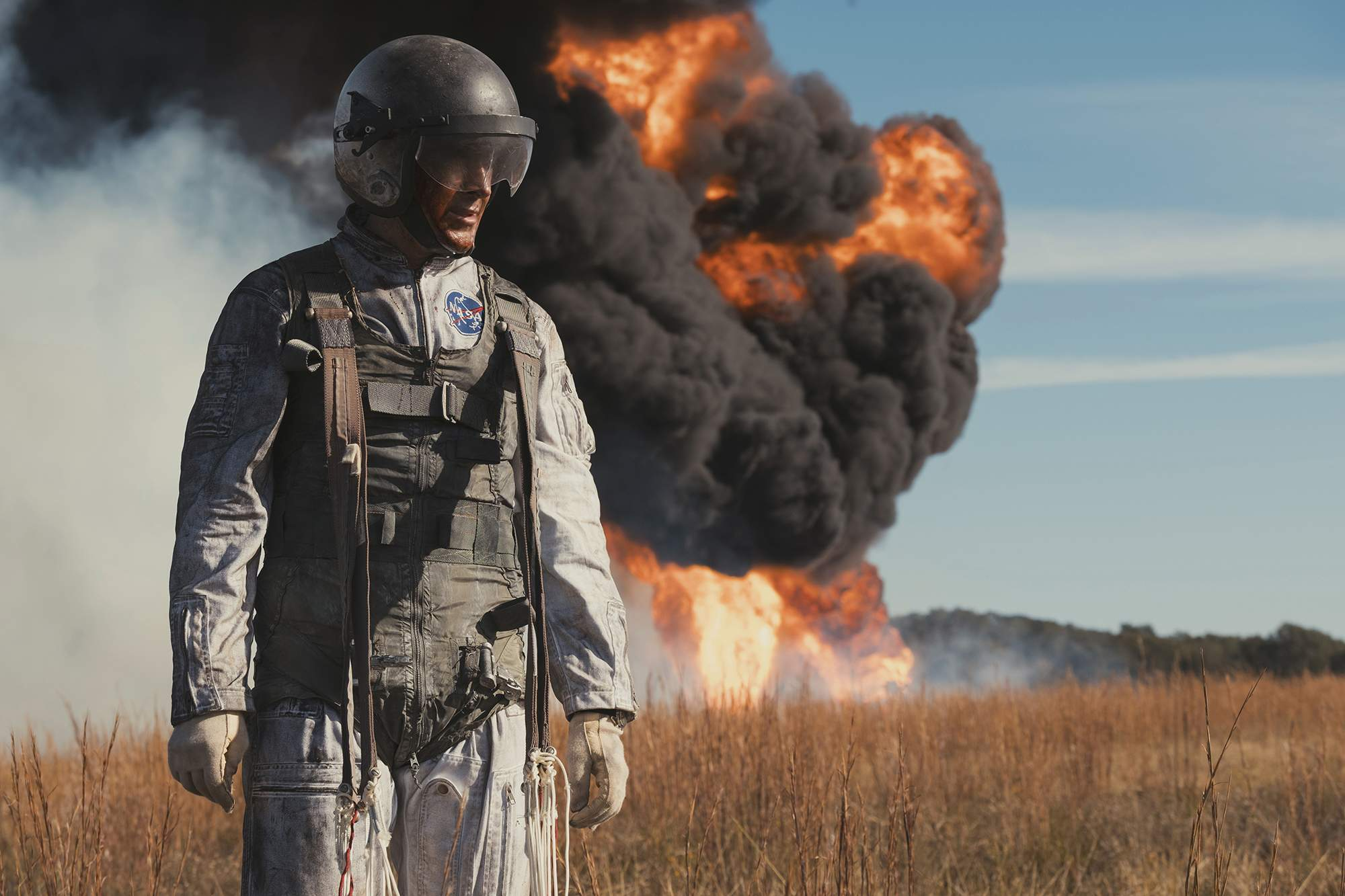 Despite setbacks, Neil Armstrong (Ryan Gosling) shows superhuman nerve and focus in 'First Man.'