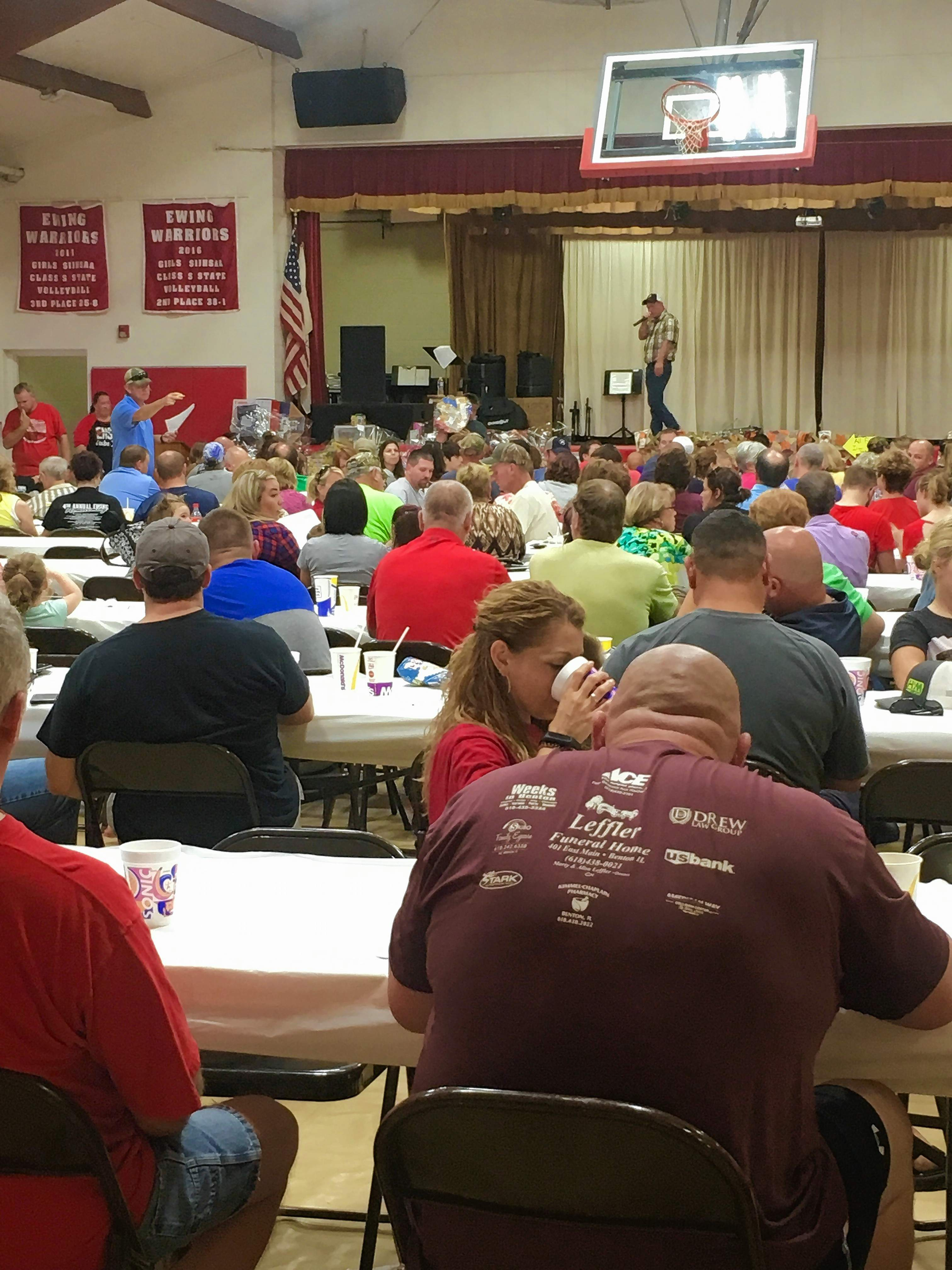 An auction followed the barbecue dinner to wrap up the Ewing Homecoming on Saturday. The annual event raises money for Ewing Northern Grade School.