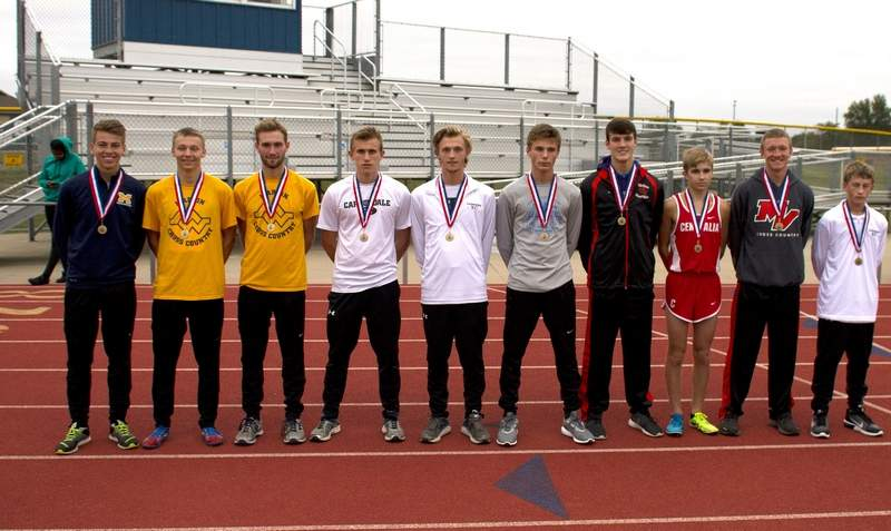 The boys all-conference runners.