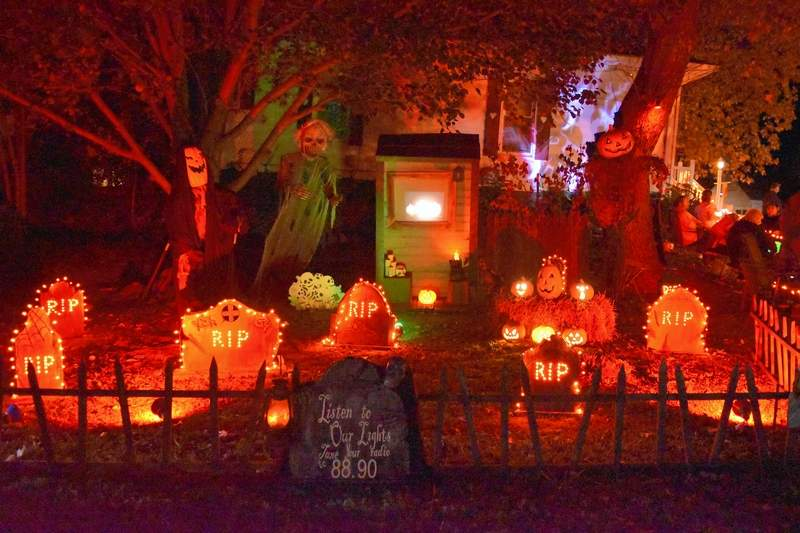 Hands down, one of the best Halloween displays had to be that of Beth and Kevin Barton in Harrisburg, which was lit up to full effect Tuesday night.