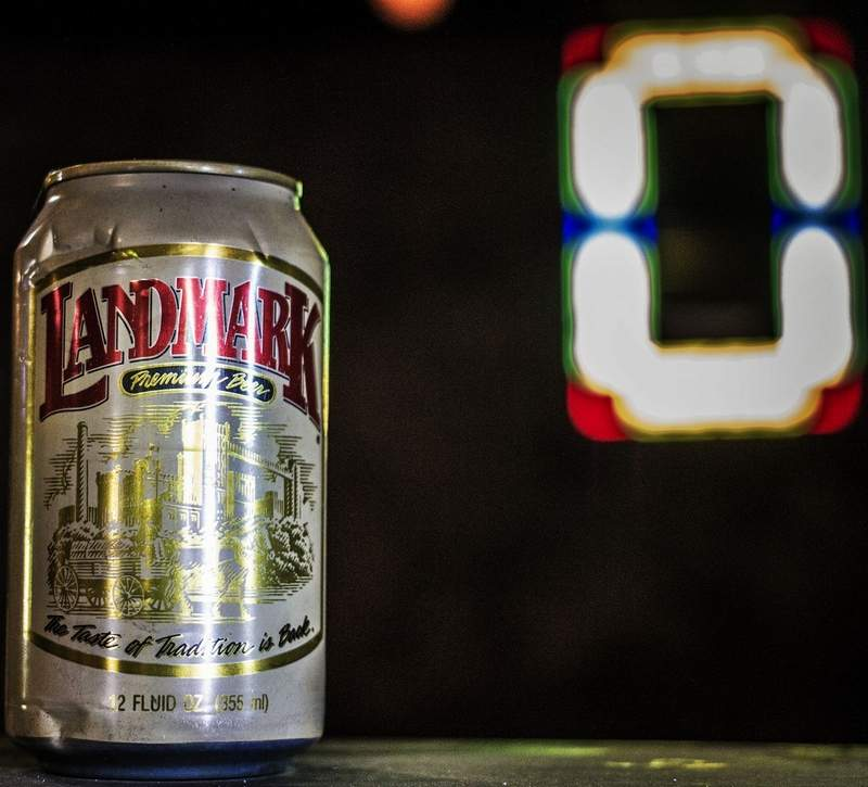 This Landmark Premium Beer can is one of quite a few relics of antiquity that have been found during the renovation process.