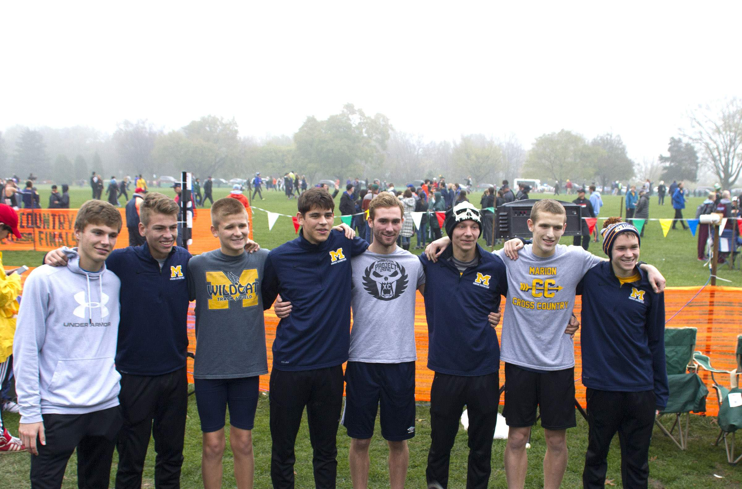 Marion's runners pose for a photo after the race.