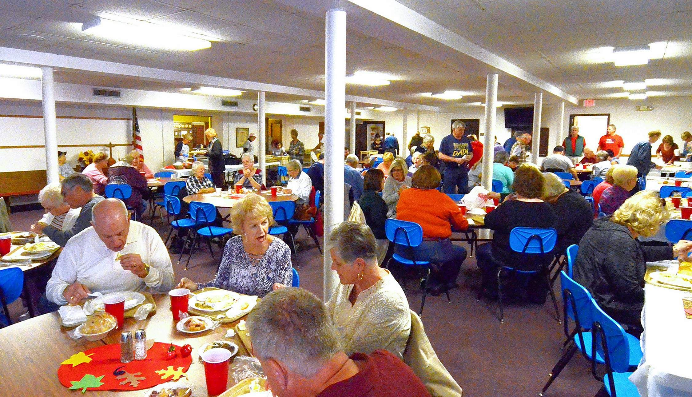 Nearly every seat was taken at noon Friday at Zion United Church of Christ's annual Chicken and Dumpling Dinner.