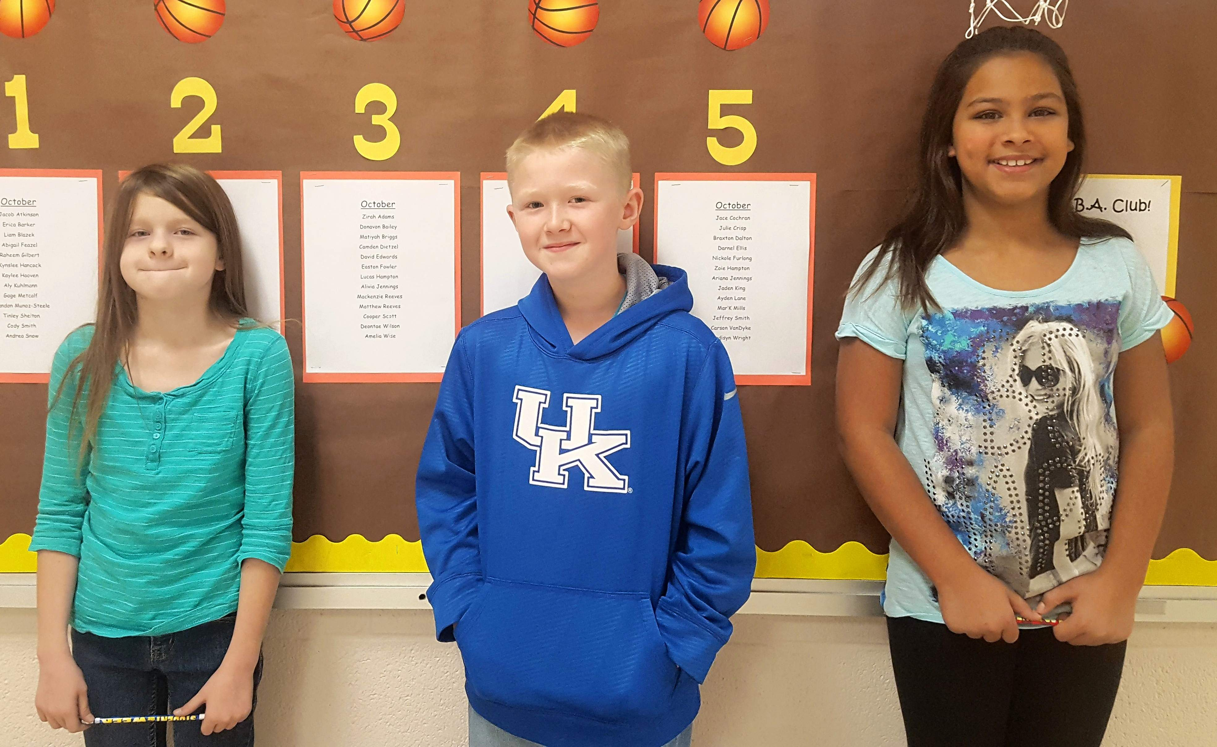 Carrier Mills-Stonefort Grade School's Top Cats Students of the Week for the week of Nov. 13 are, from left, Alivia Jennings, third grade; Jaxon Layman, fourth grade; and Harmony Hyatt, fifth grade.