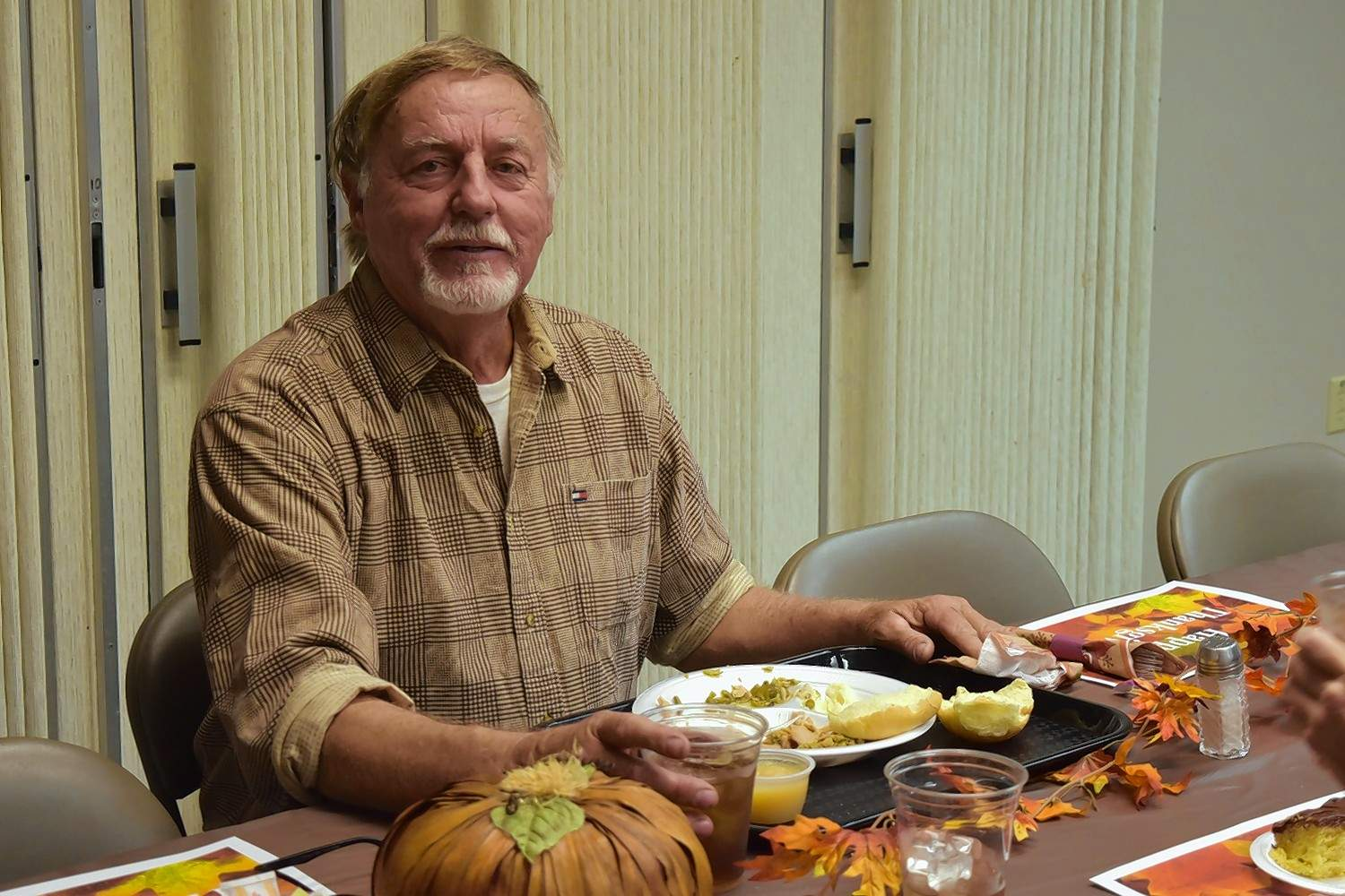 Daren Crabb of Harrisburg said he enjoyed the chance to have dinner at 'His Table' Thursday afternoon.