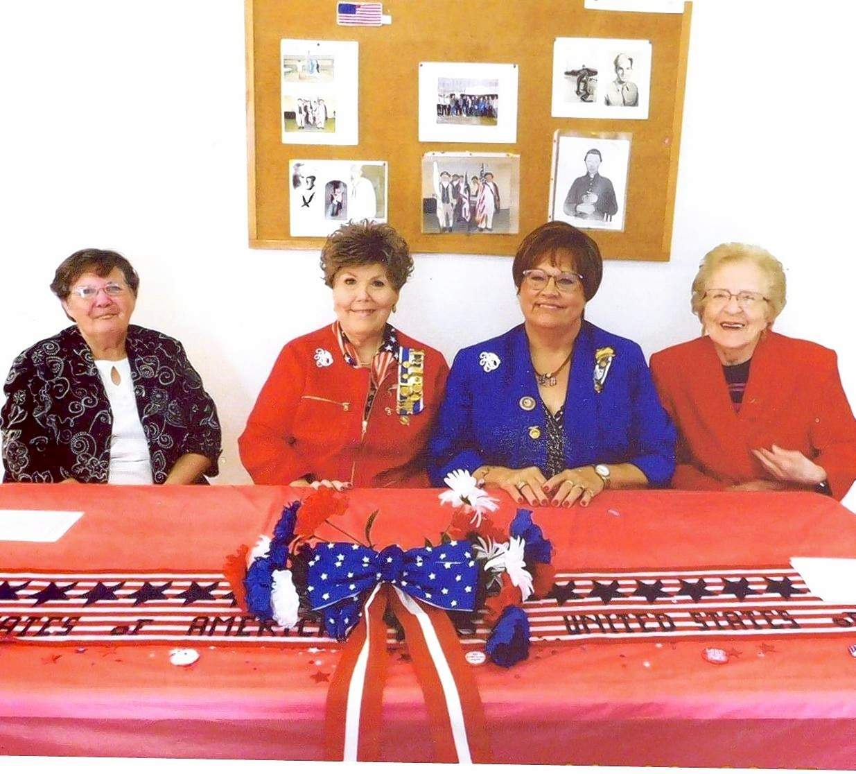 Michael Hillegas Chapter NSDAR members participating in the Veterans Day ceremony are, from left, Delores Vick, Sharon L. Tanner, regent, Shelia Albright, vice regent veteran chair and Dolores Payne.
