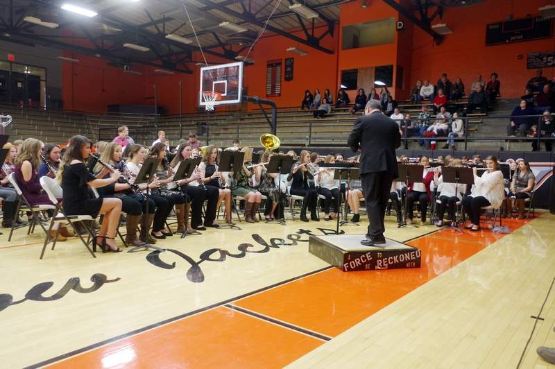 """The Chester High School Concert Band performed """"A Christmas Festival for Band,""""  """"Greensleeves"""" and """"Ukranian Bell Carol."""""""