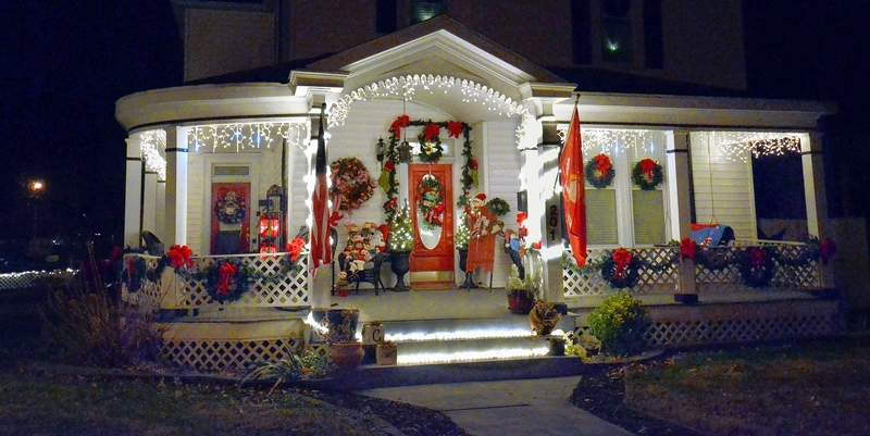 one of the most beautiful homes decorated for this christmas holiday season in marion is this