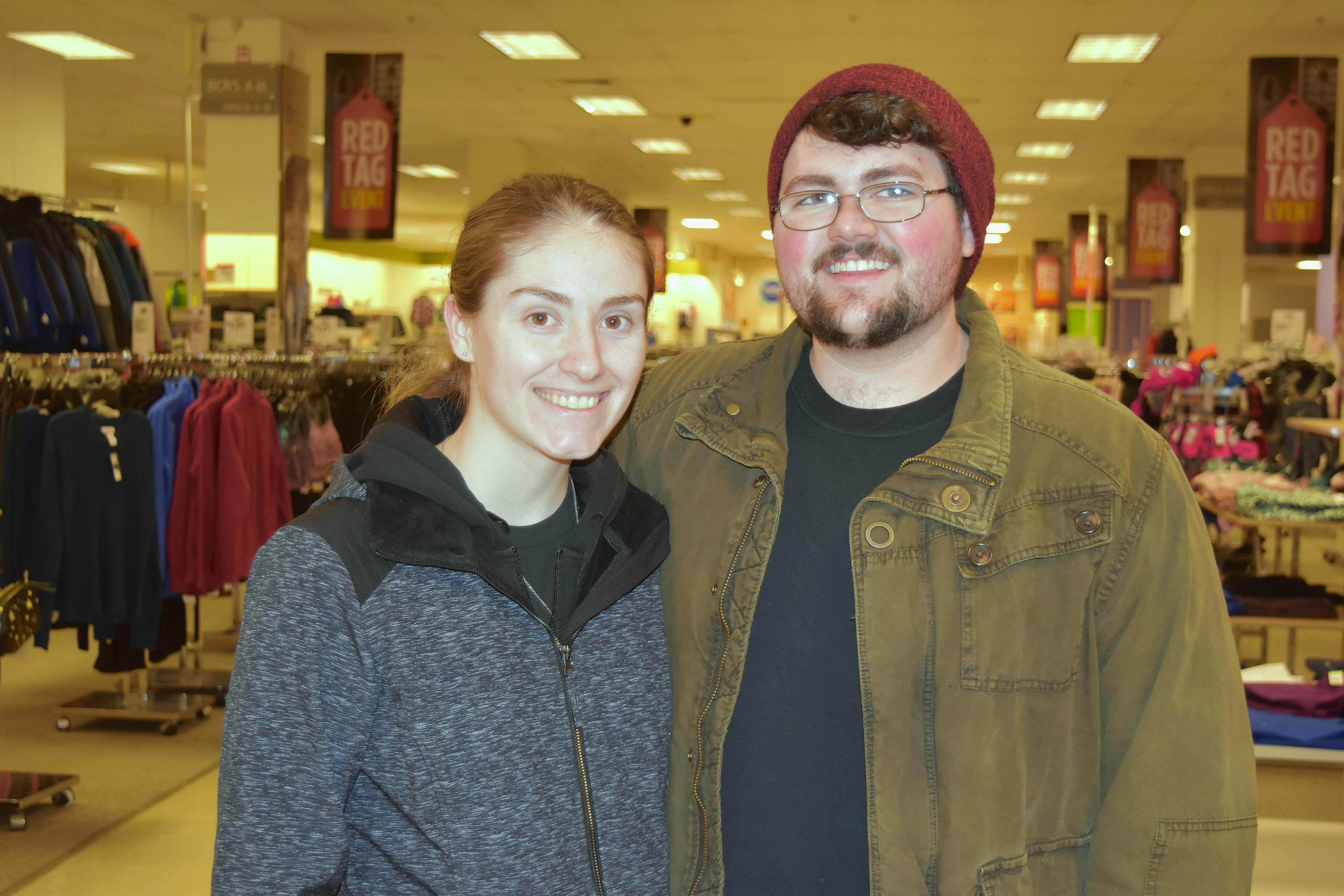 "Briana Julian of West Frankfort and Austin Erthall of Ewing doing some shopping at Sears Thursday evening. Erthall said he will definitely miss Sears. ""I'm not sure how much longer any of these stores here at the mall will stay open,"" he added."