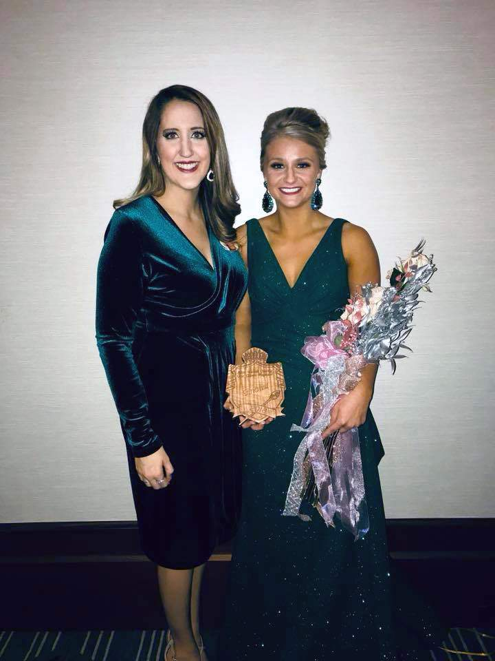 Pictured is Perry County Fair Pageant Director Stacey Jones (left) and 2017 Perry County Fair Queen Emily Kuberski. Kuberski finished second runner up at the Miss Illinois County Fair Queen Pageant on Sunday. She is pictured holding her finalist plaque.