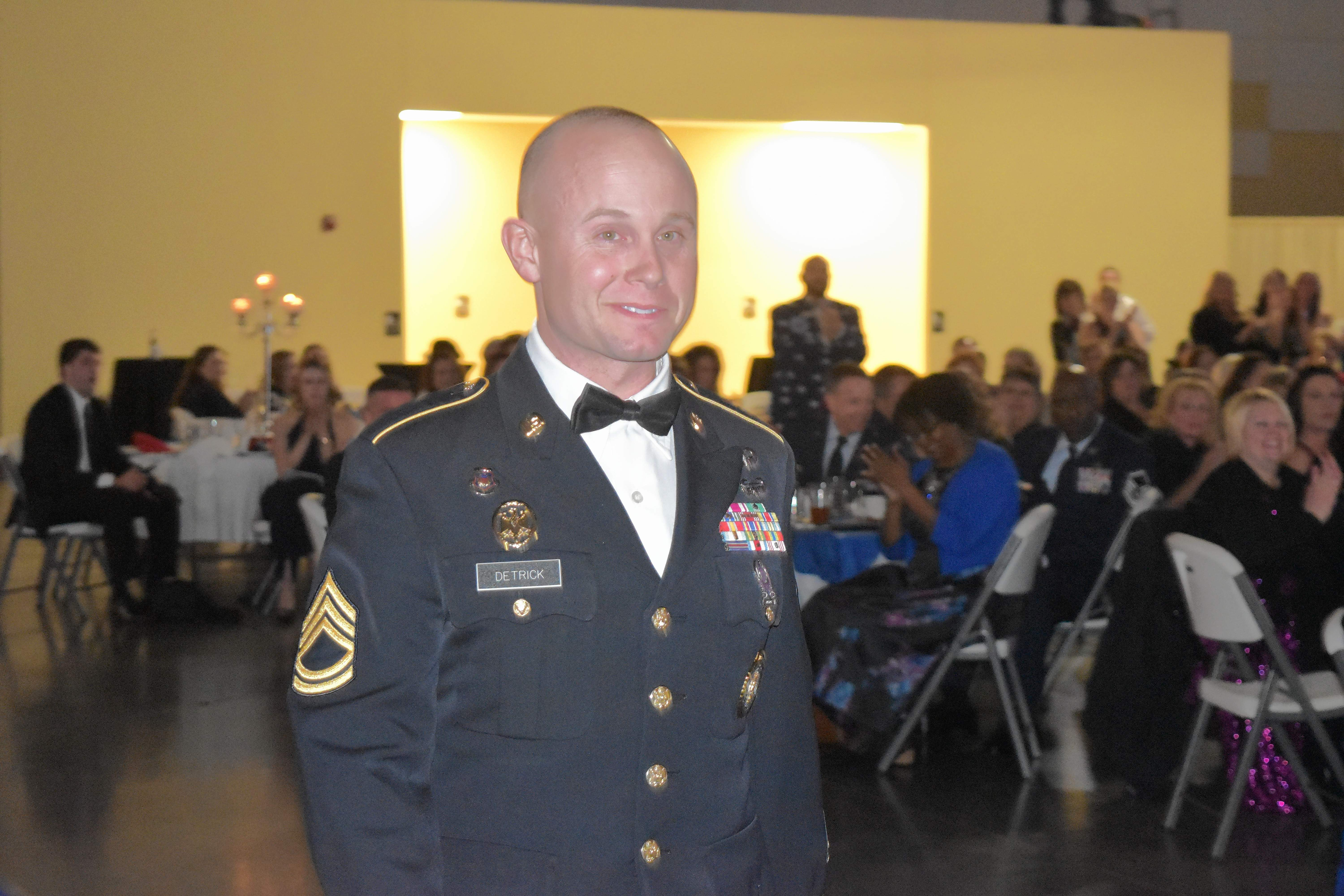 Beau Detrick with the Illinois Army National Guard was named 'Citizen of the Year' by the Marion Chamber of Commerce.