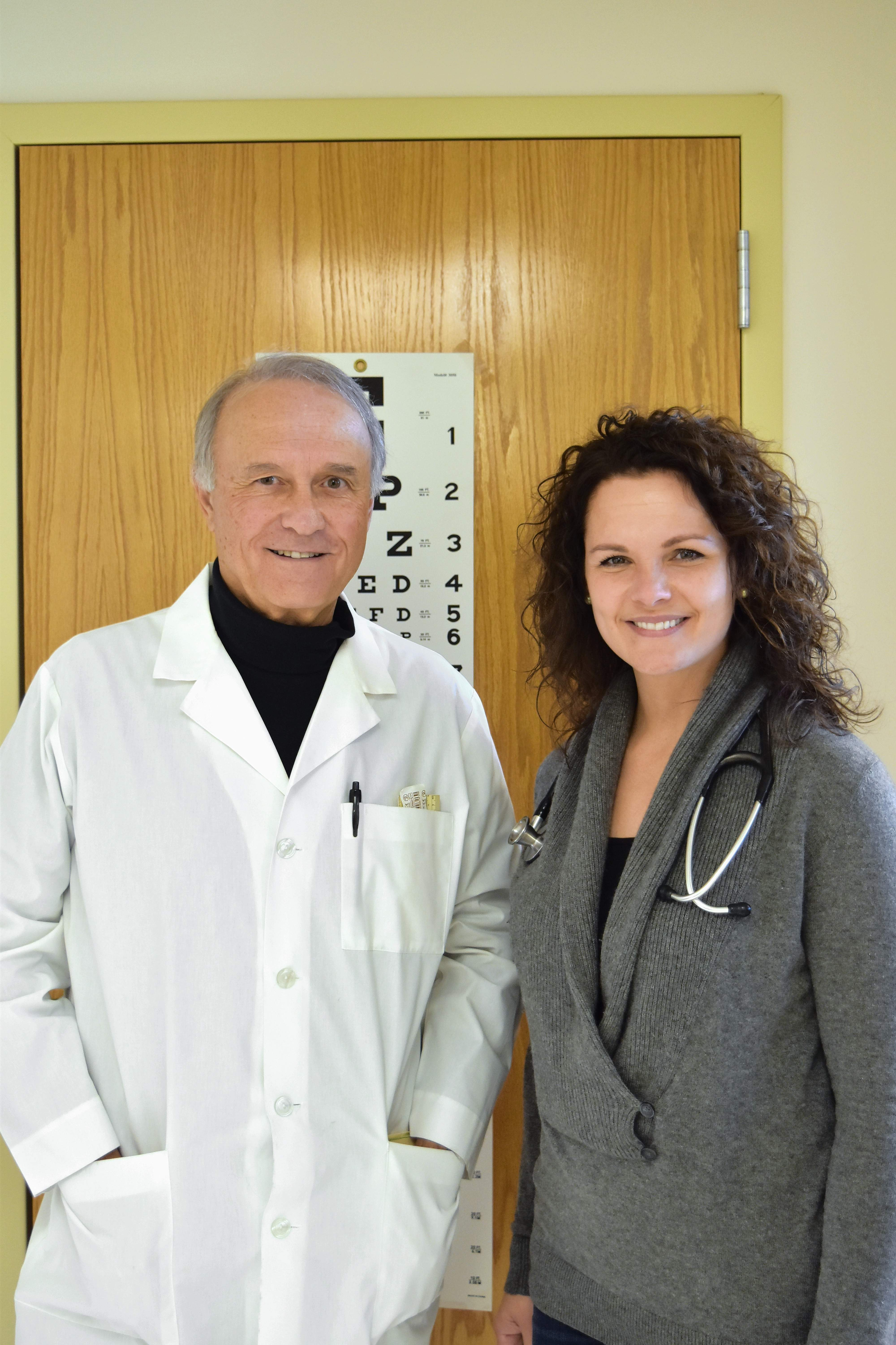 Dr. Tom Martin and Natalie Phelps Finnie provide medical care for patients at Egyptian Health Department's Gallatin County Wellness Center.