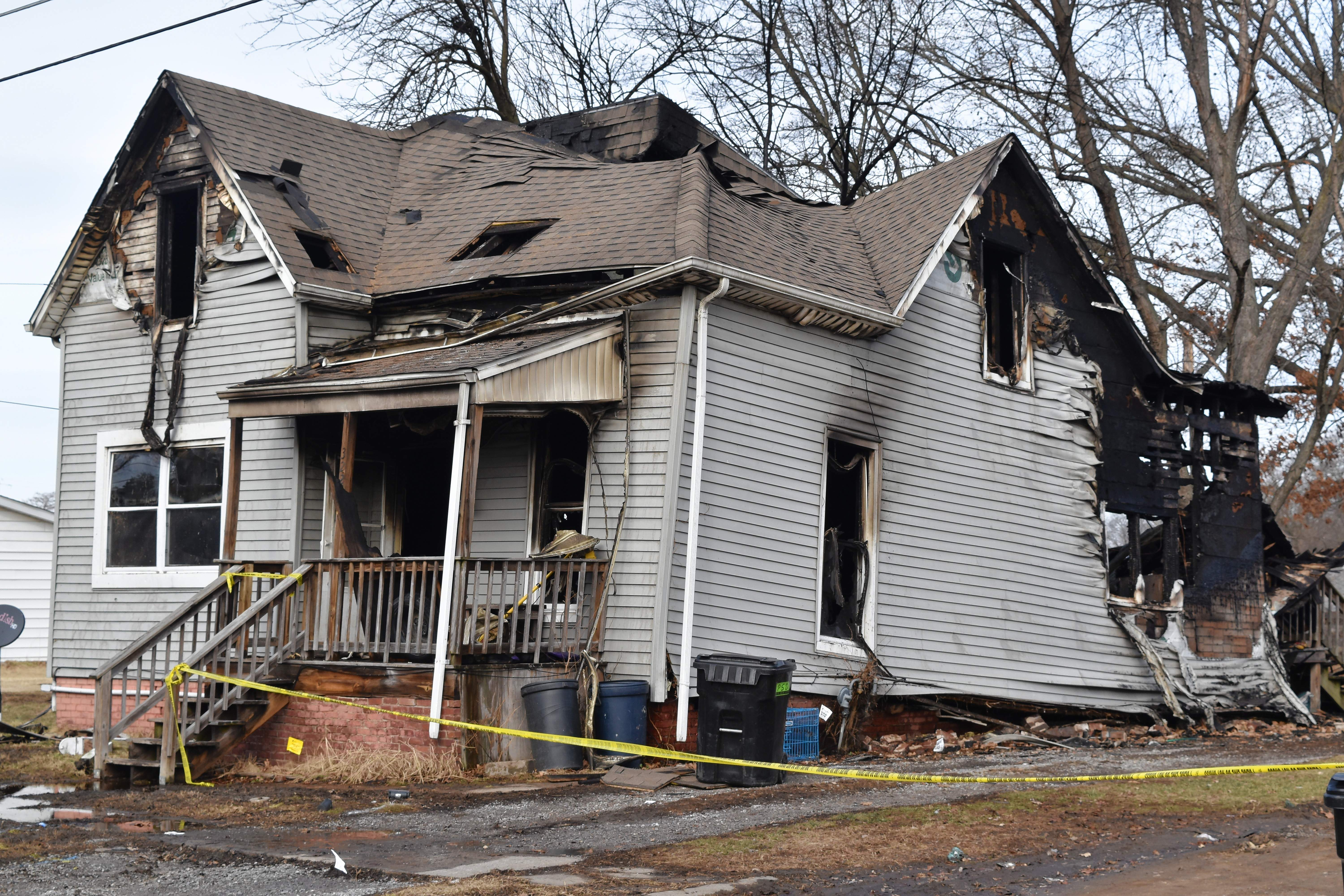 The Peacock family house at 322 Pacific St. in Harrisburg after the early morning fire on Wednesday, Jan. 31.