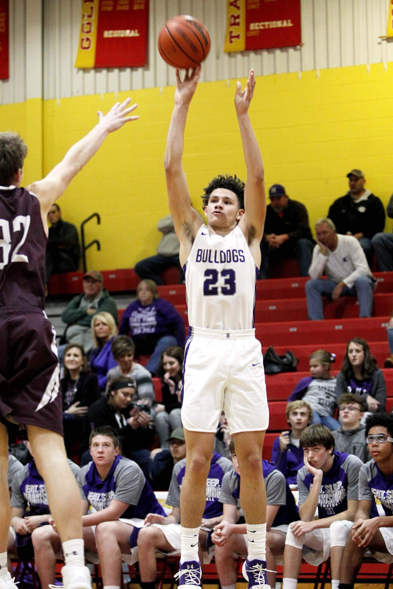 Harrisburg's Isaiah Saulsberry had 31 points in the Bulldogs' 72-60 win over Robinson at Tuesday's IHSA Class 2A Regional semifinal at Lawrenceville. In the game, the senior guard also became HHS' All-Time leading scorer, passing Capel Henshaw for the top spot.