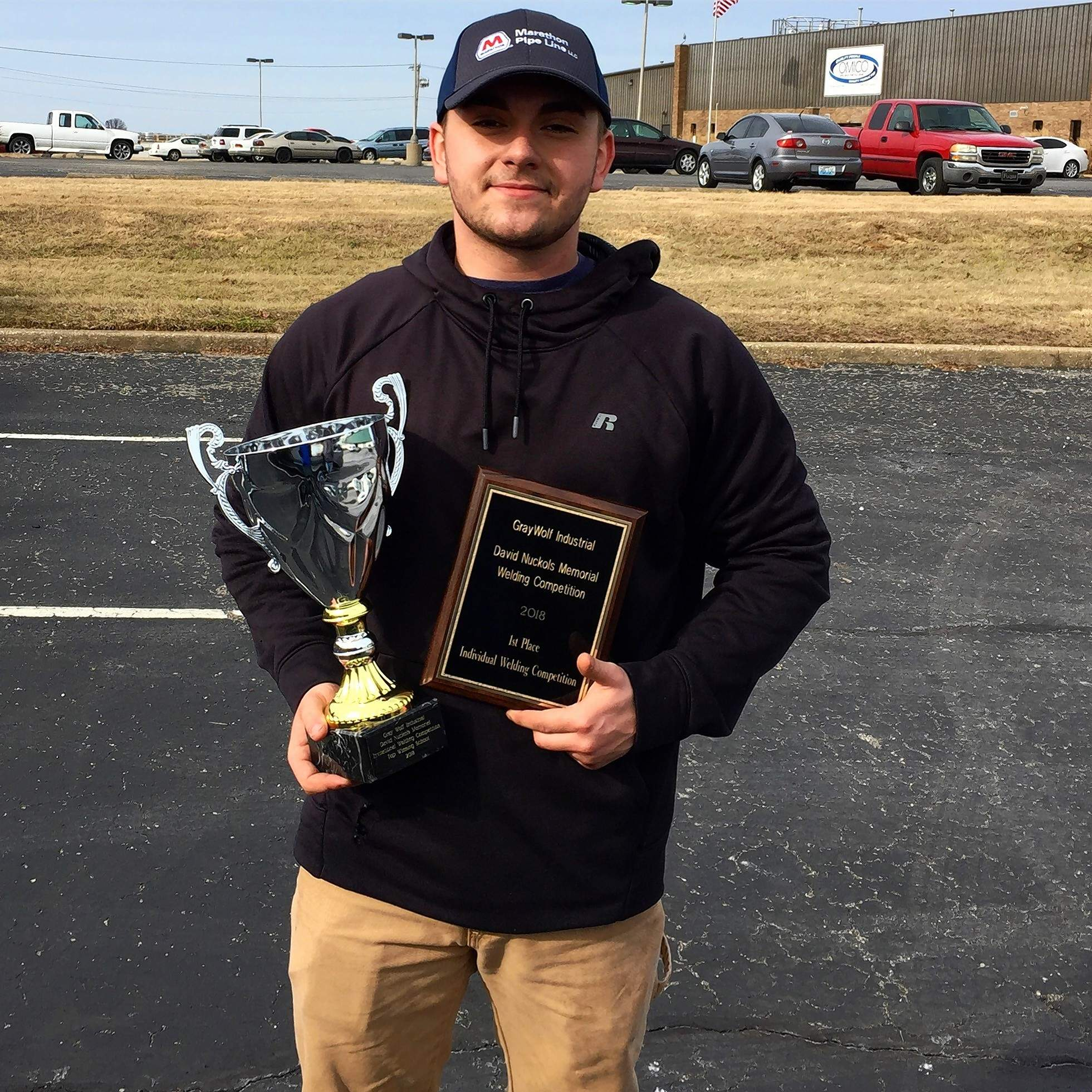 SIC welding student Pace Young of Enfield won overall welder in the competition in Owensboro, Ky.