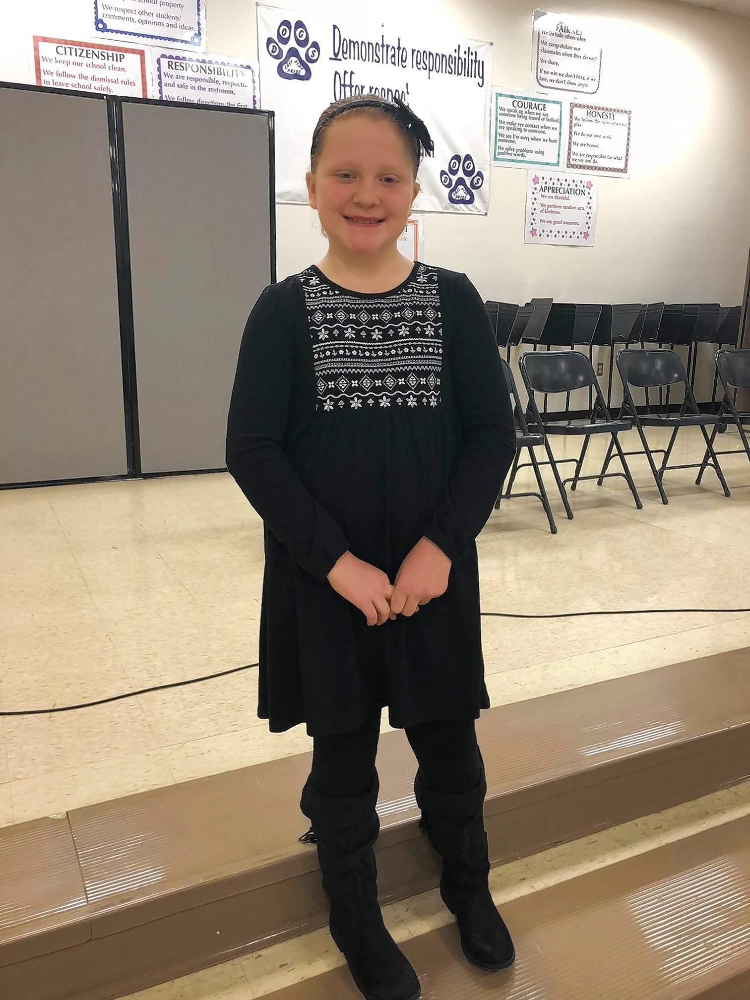 Hadley Hunt, East Side Intermediate School 2018 spelling bee champion.
