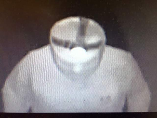 Image from the surveillance camera of the burglary Monday at Little Chapel Church.