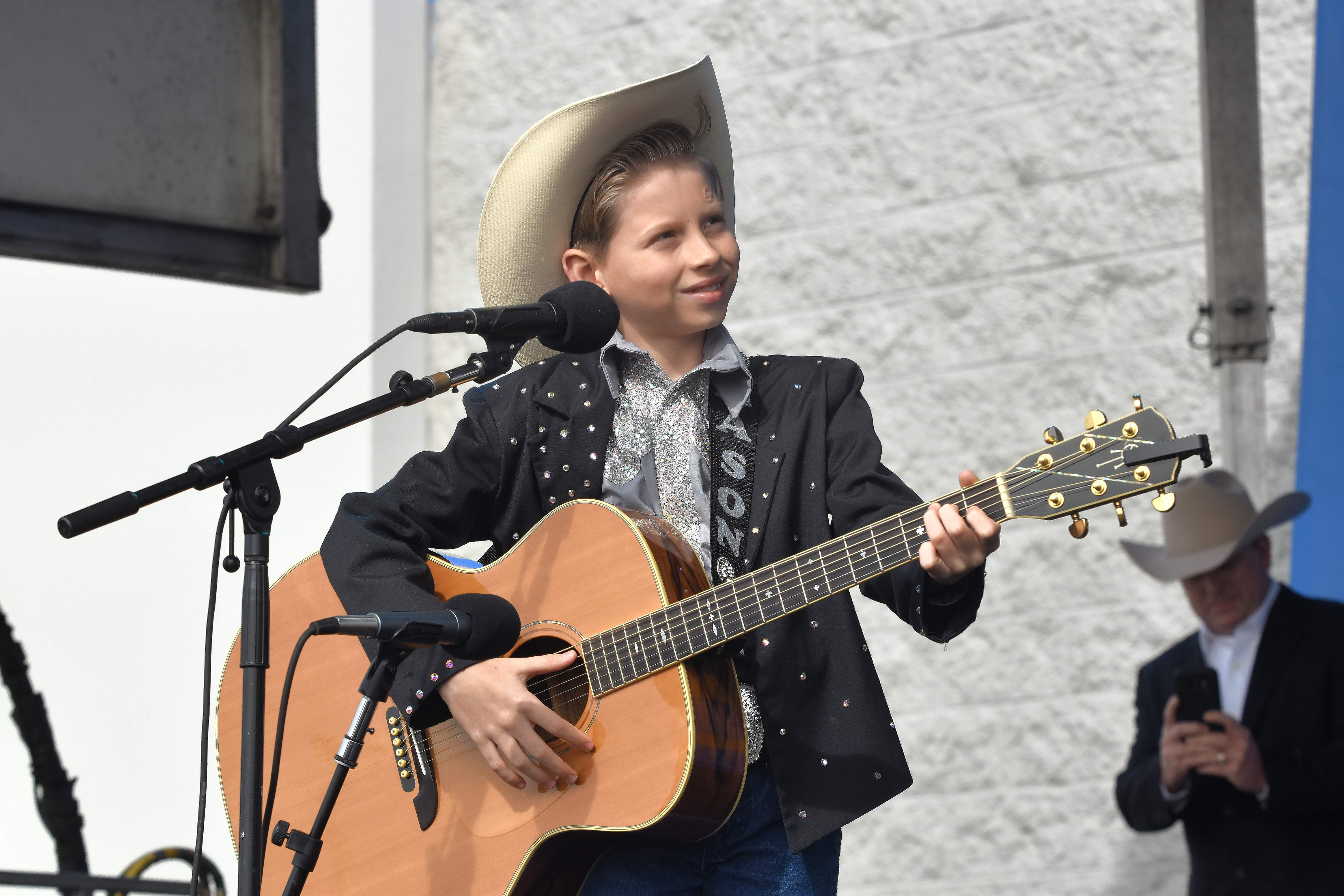Mason Ramsey is relaxed and seems to enjoy his performance Wednesday at the Harrisburg Walmart.