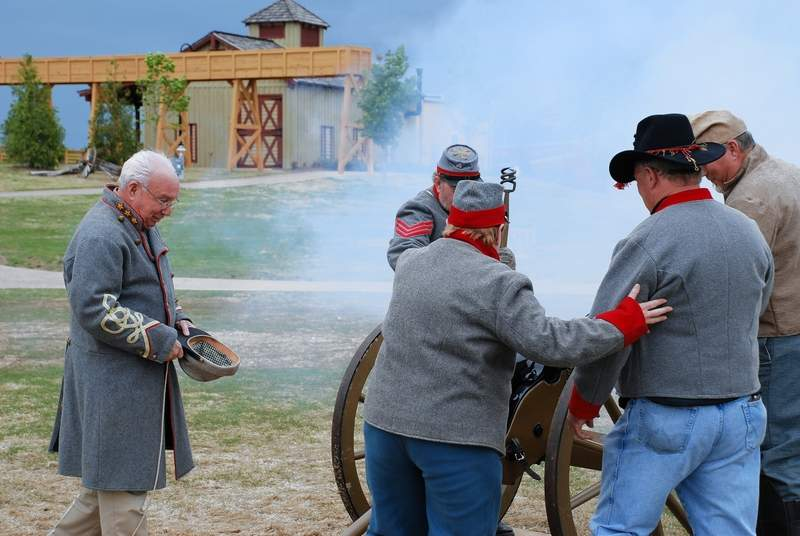 A crew fires the cannon during a previous Civil War Days Encampment at Discovery Park of America.
