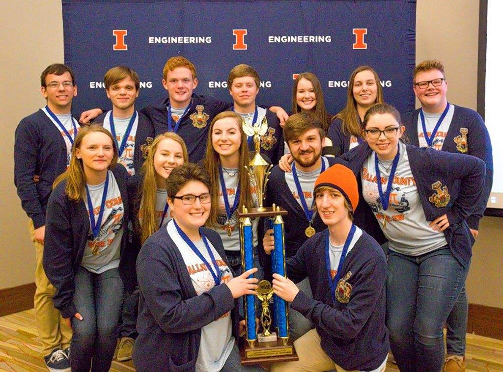 Front row: Kenna Rife and Dylan Boggs. Middle row, from left: Jayde Pennington, Kallie Keasler, Abbie Keasler, Nathan Shults and Michaela Springer. Back row, from left: Dylan Garrison, David Matthews, Blake Seely, Aaron Walters, Madison Raymer, Kiley Brown and Konner Gross.