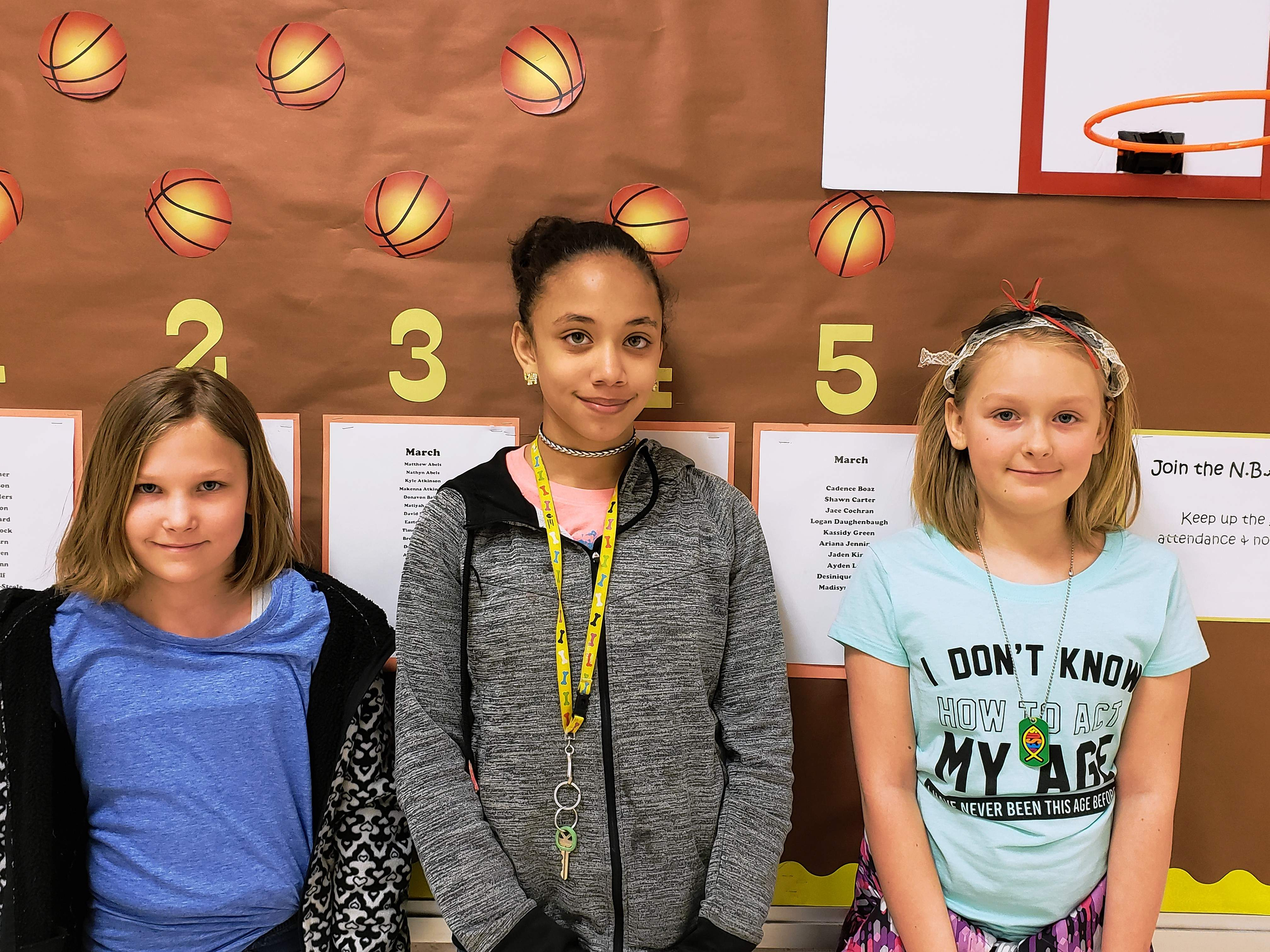 This week's Top Cats are, from left: Angel Graff, fourth grade; Daviauna Johnson, fifth grade and Emma Owens, third grade.
