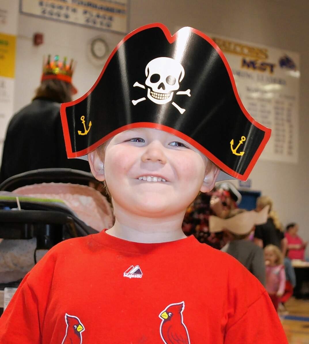 Washington Poole, 4, of Eldorado, sports his new pirate hat.