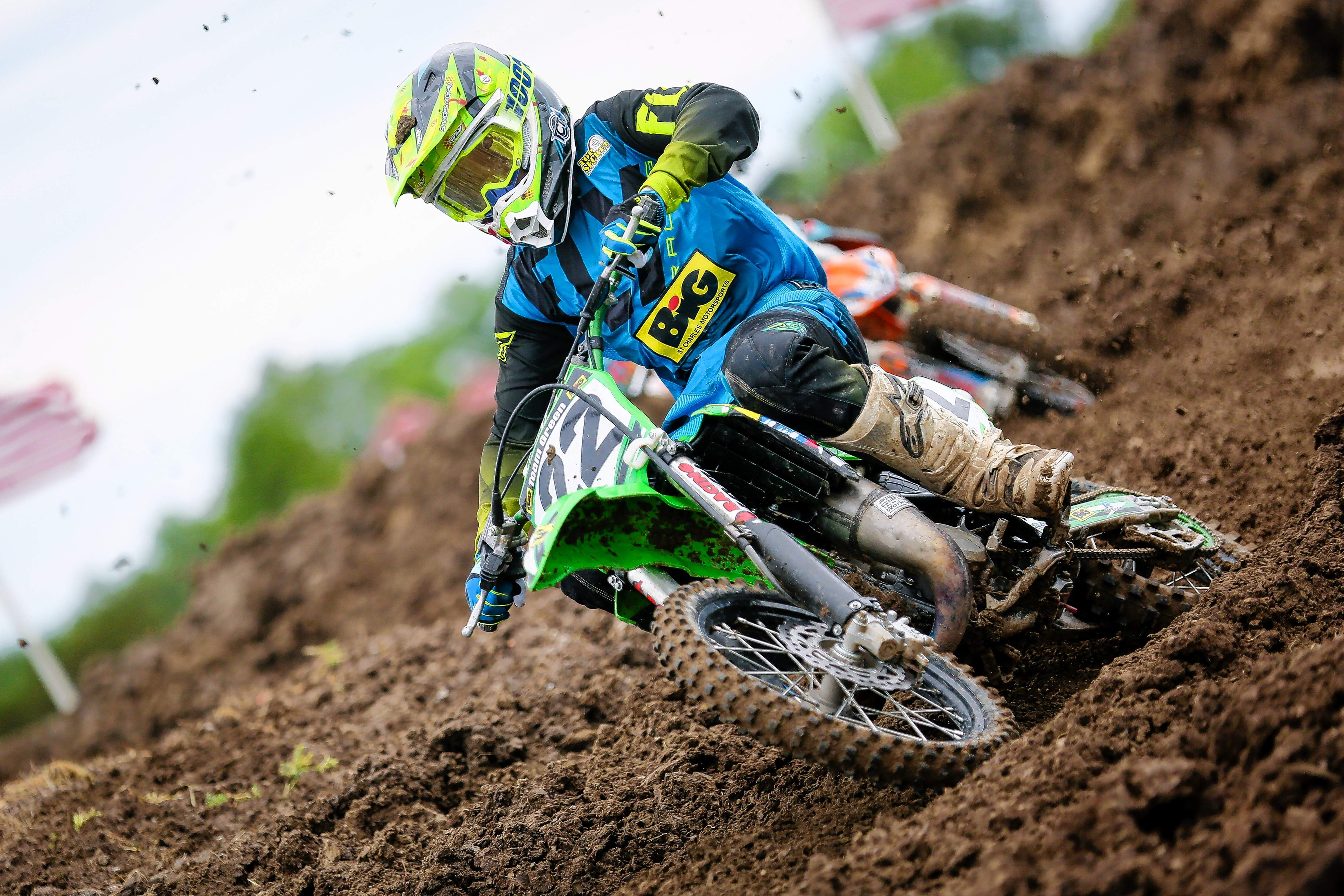 Colin Marler of Caseyville scored a couple podium finishes last year in his classes (Mini Sr. 2 (12-14) and Supermini 2 (13-16) at Indian Hills MX in Du Quoin.