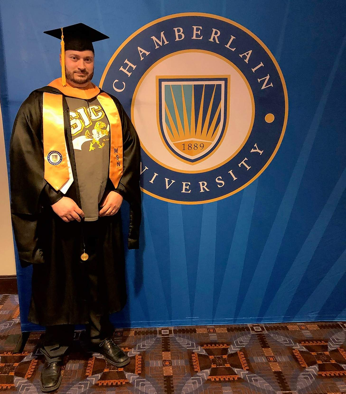SIC MEDIA SERVICESJosh Richardson of Carrier Mills earned his Master of Science in Nursing - Family Nurse Practitioner from Chamberlain University March 18.