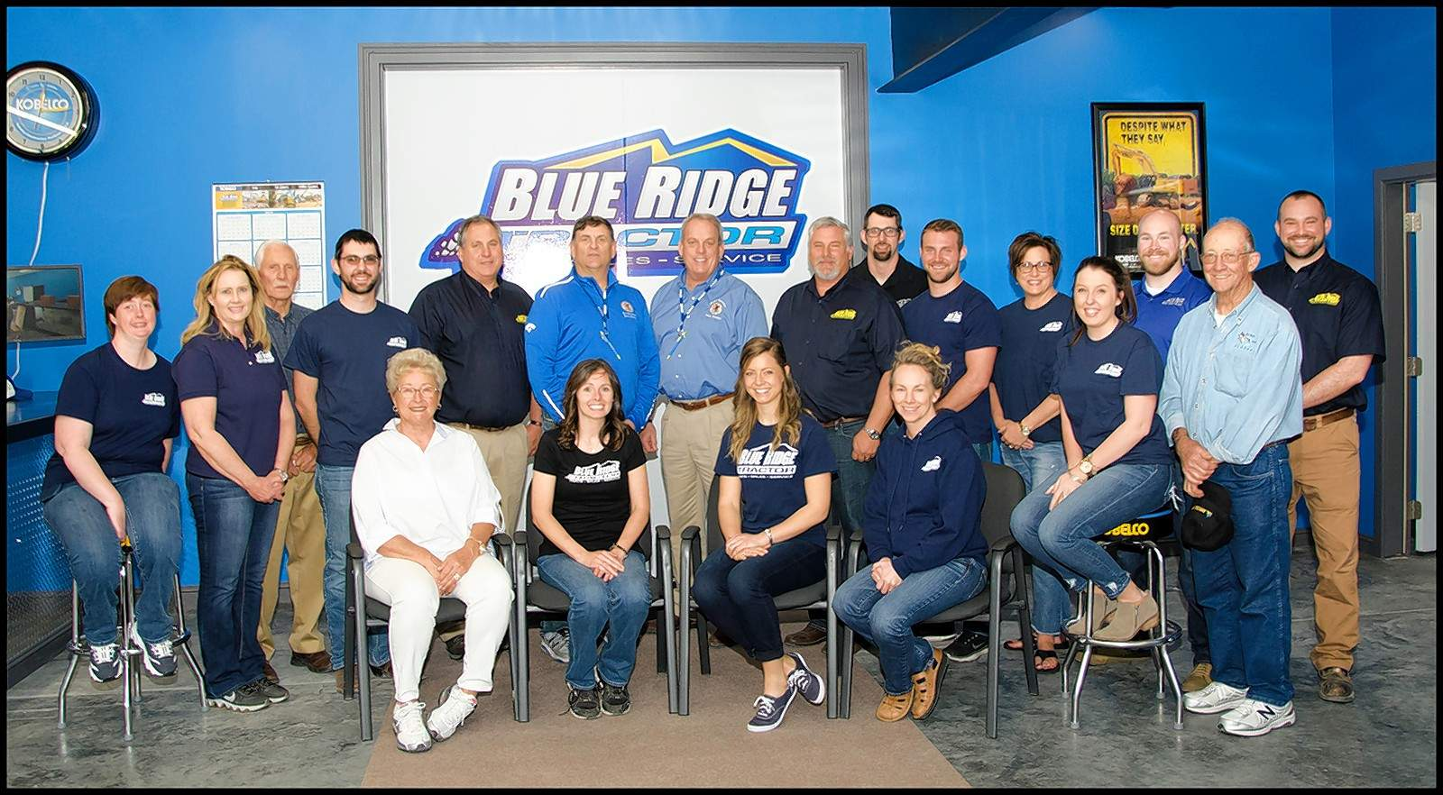 Rep. Dave Severin (R-Benton) and Sen. Dale Fowler (R-Harrisburg) joined the Gibbs family, owners of Blue Ridge Tractor, at last weekend's open house celebrating the business' new location at Benton's I-57 Airport Business Park.