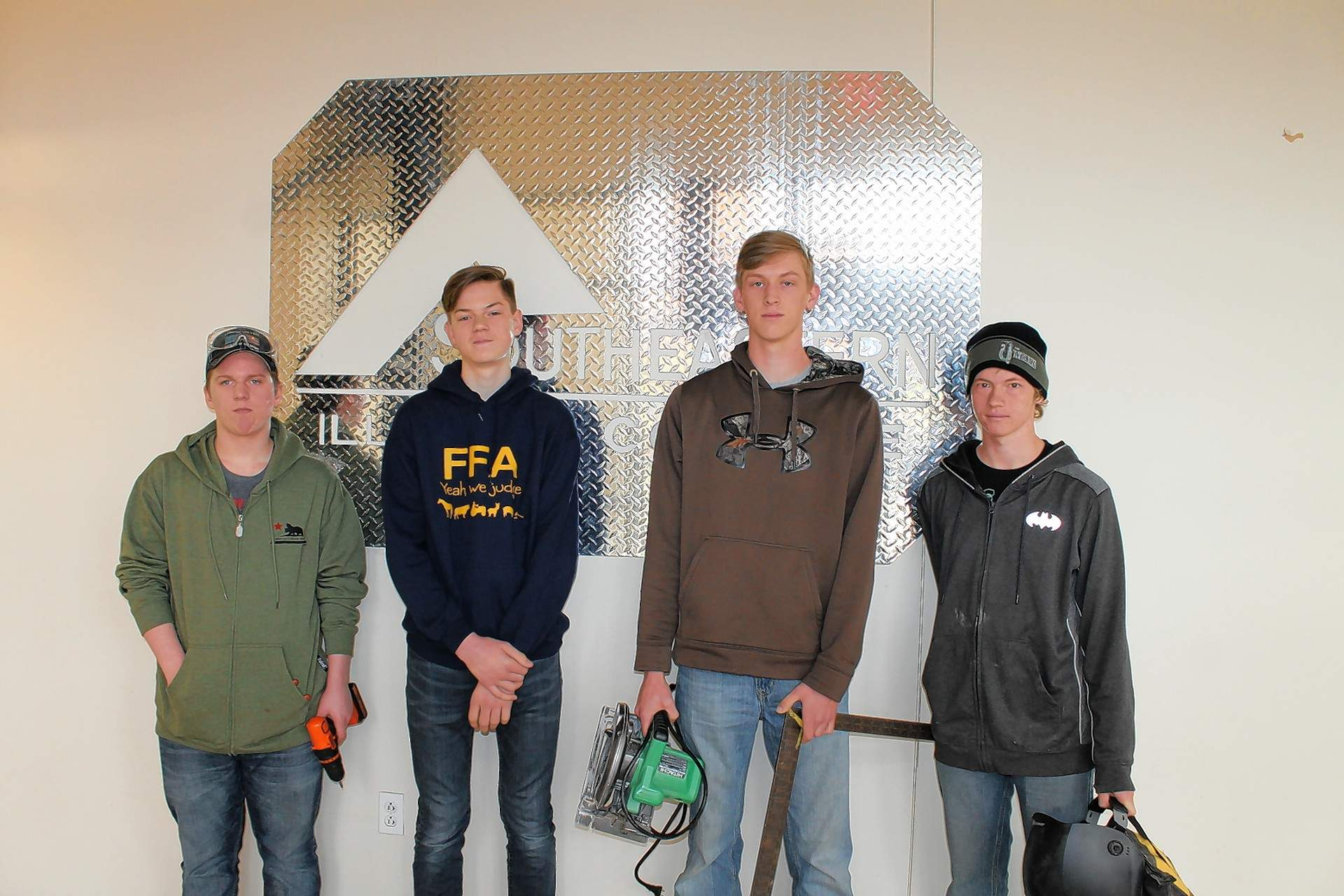 Joppa High School's FFA Chapter participated at the 2018 FFA Section 25 Ag Mechanics Competition at Southeastern Illinois College. Pictured are (not in order): Kaleb Cox, Patrick Harville, Matt McGinness and James VanMeter.
