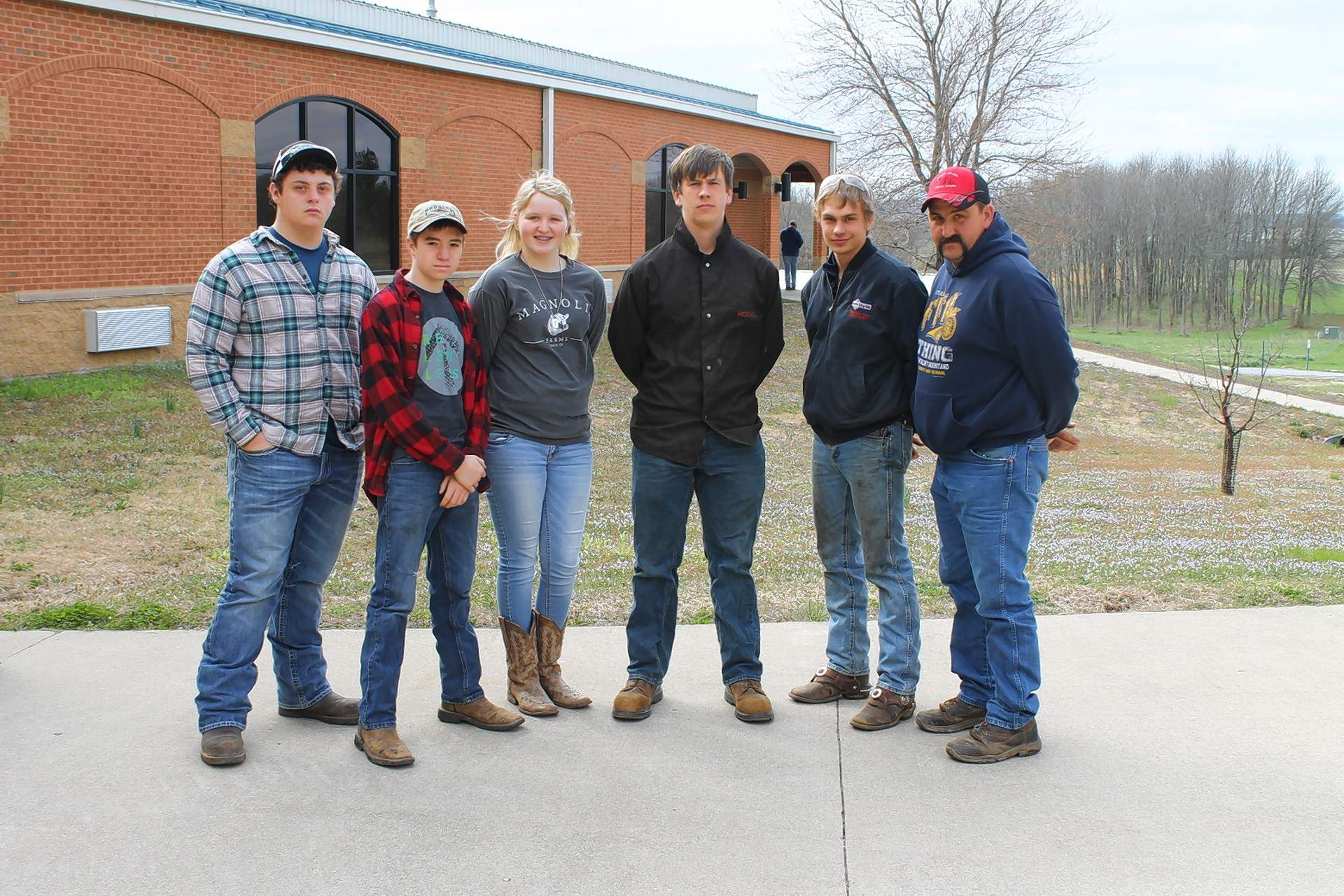 Pope County High School's FFA Chapter participated at the 2018 FFA Section 25 Ag Mechanics Competition at Southeastern Illinois College. Pictured are (not in order): John Bremer, Kyle Kunath, Garin Lehman, Ethan Murphy and Jordyn Swinford.