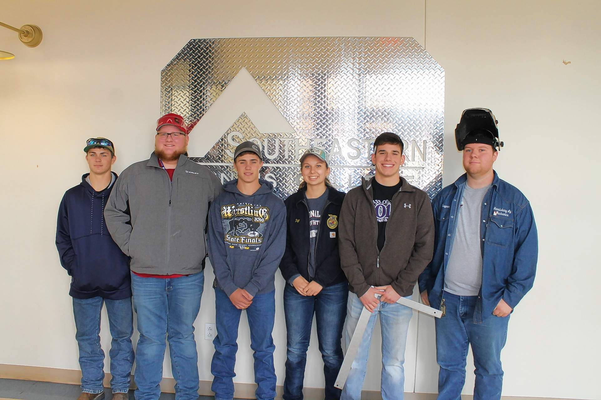 Harrisburg High School's FFA Chapter participated at the 2018 FFA Section 25 Ag Mechanics Competition at Southeastern Illinois College. Pictured are (not in order): Kody Cavender, Kyle Cavender, Paige Cook, Logan Hunt, Cade Joiner and Caleb Jones.