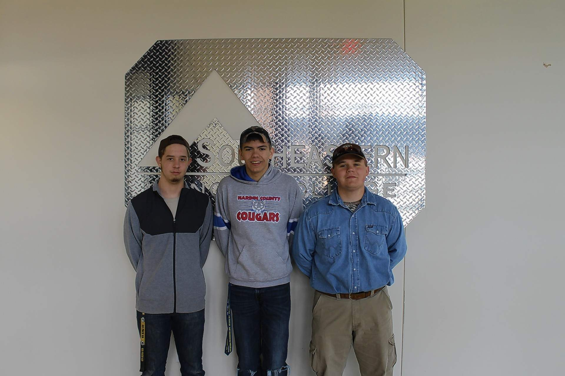 Hardin County High School's FFA Chapter participated at the 2018 FFA Section 25 Ag Mechanics Competition at Southeastern Illinois College. Pictured are (not in order): Gage Hawes, Ryder Flener and Jonathan Foster.
