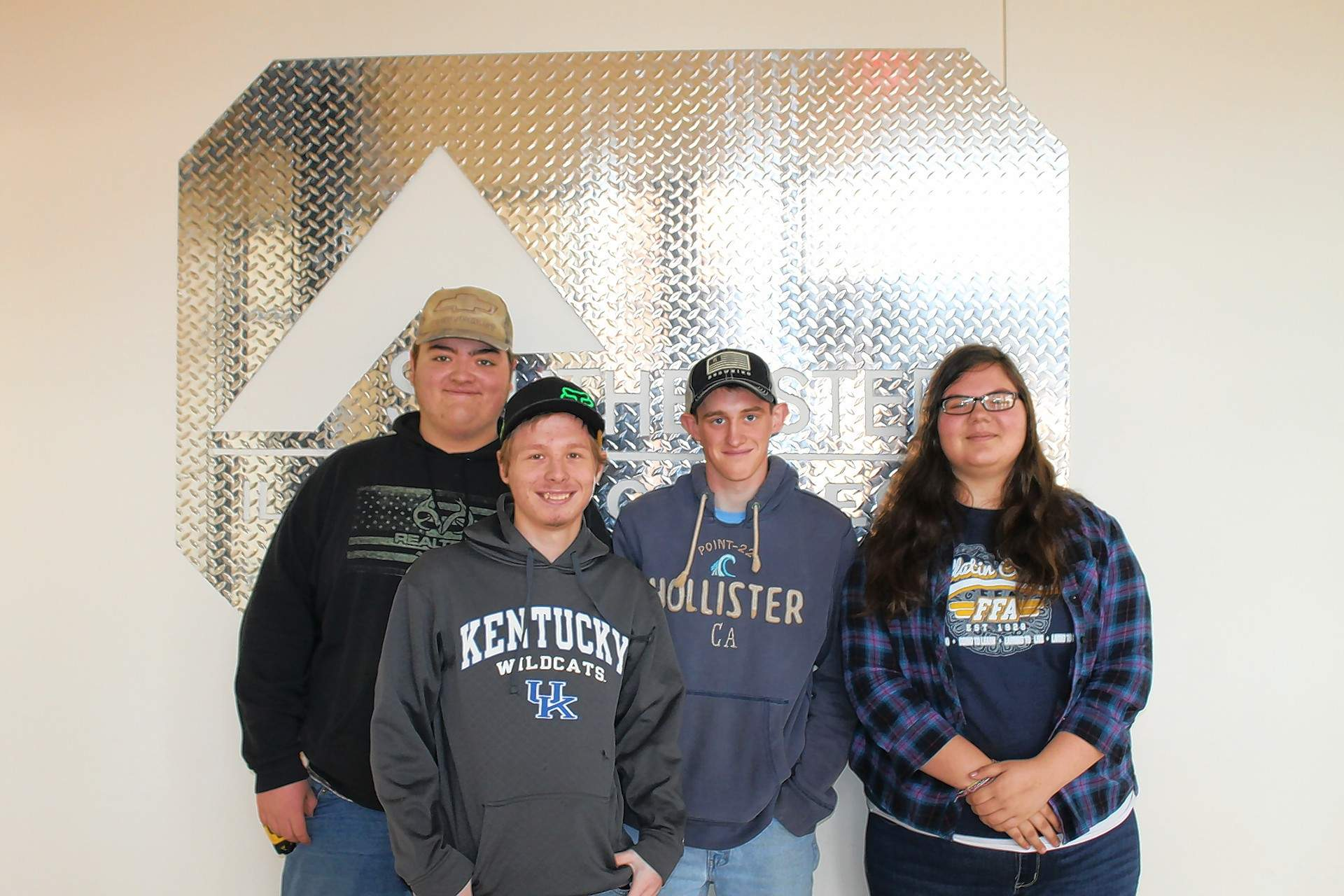 Gallatin County High School's FFA Chapter participated at the 2018 FFA Section 25 Ag Mechanics Competition at Southeastern Illinois College. Pictured are (not in order): Logan Arnett, Matt Emerson, Damon Hinton and Aleece Mcloed.
